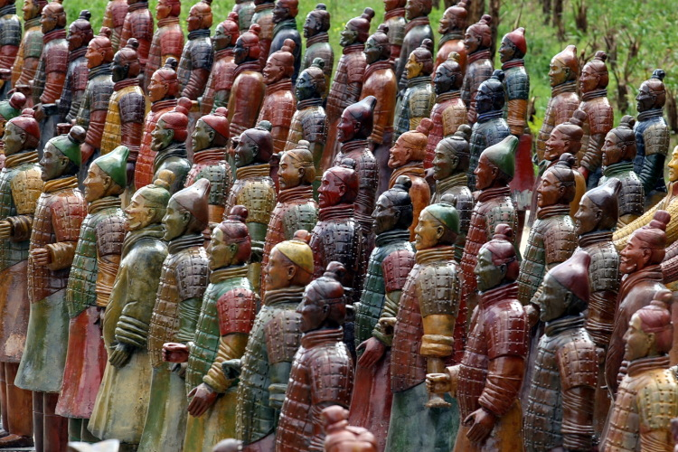 Terra Cotta Warriors at Buddha Eden
