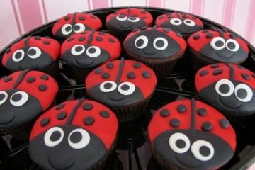 agua na boca cupcakes joaninhas ladybugs