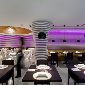 sushi cafe avenida dining room trendy fashionable lisbon restaurante