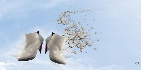 guava shoes, Ines Caleiro, geometric modern contemporary footwear