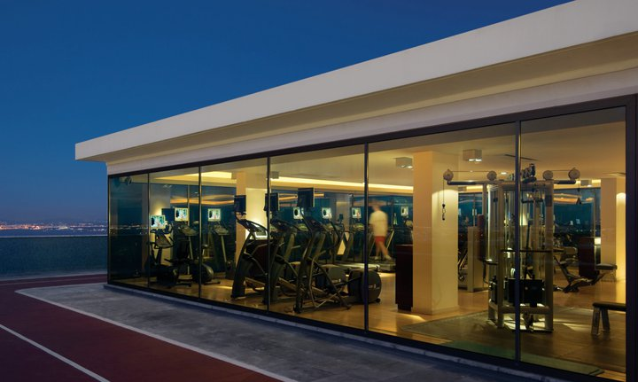 rooftop gym, views of lisbon, four seasons ritz hotel lisbon