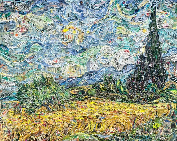wheat fields vik muniz