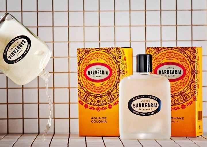 antiga barbearia de bairro colonia cologne after shave depois barber