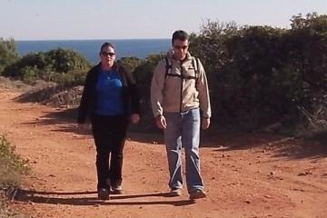 Hiking Cliffs Praia Marinha Carvoeiro Algarve
