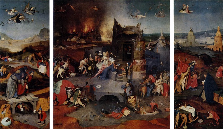 Temptation by Hieronymus Bosch