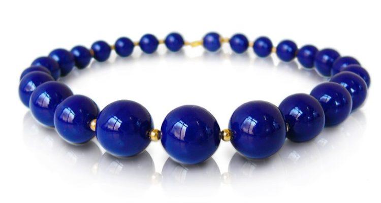 Affaire porcelain jewelry cobalt,