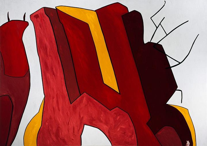 Nikias Skapinakis - A Las Cinco en Punto de la Tarde, Oil on Canvas, Arte Moderna Gerardo Rueda