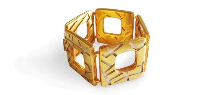 cities of desire bracelet affaire jewellery, gold porcelain