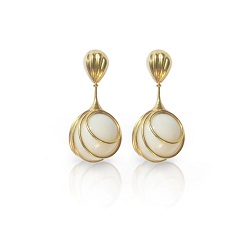 porcelain pearl earings, affaire jewellery