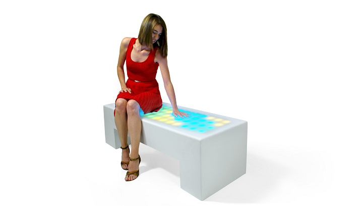 nunoerin sparkle bench, interactive furniture