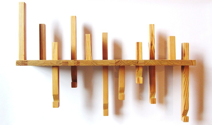 Correia/Ragazzi Arquitectos, coat rack of recycled wood,