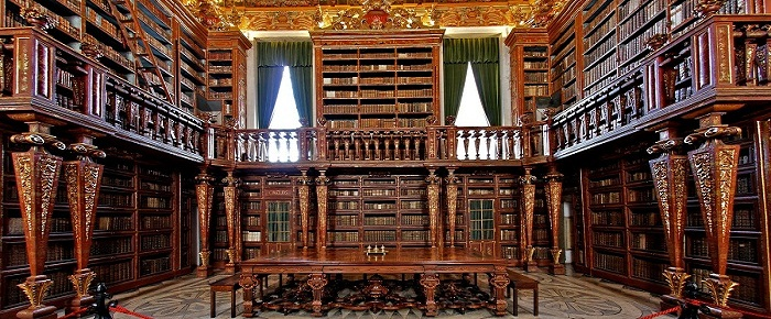 Biblioteca Joanina at the University of Coimbra in Central Portugal