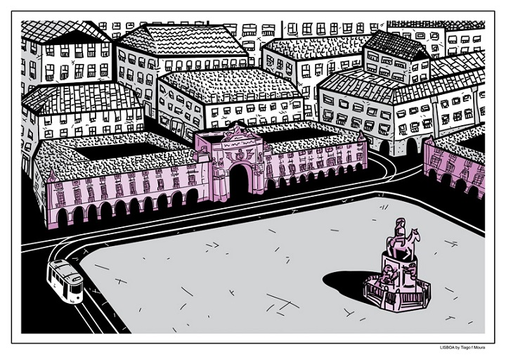 Praca do Comercio by Tiago f Moura