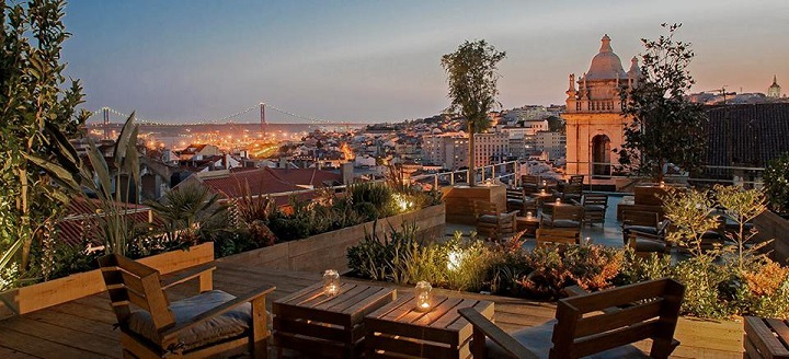 Park restaurant bar elevated garden terrace in lisbon for Top of the terrace restaurant