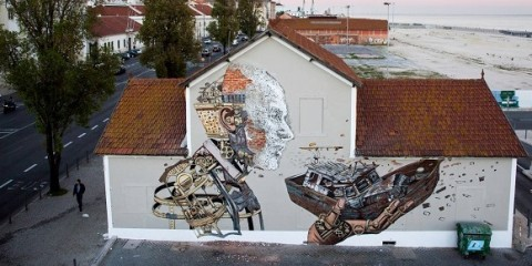 Underdogs Urban Art Tour - PIXELPANCHO X VHILS COLLAB 2