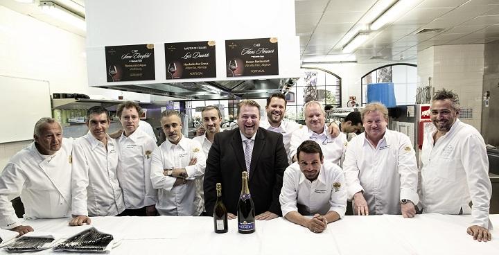 VILA VITA Parc General Manager Kurt Gillig and Ocean Restaurant Executive Chef Hans Neuner with invited Michelin Star chefs.