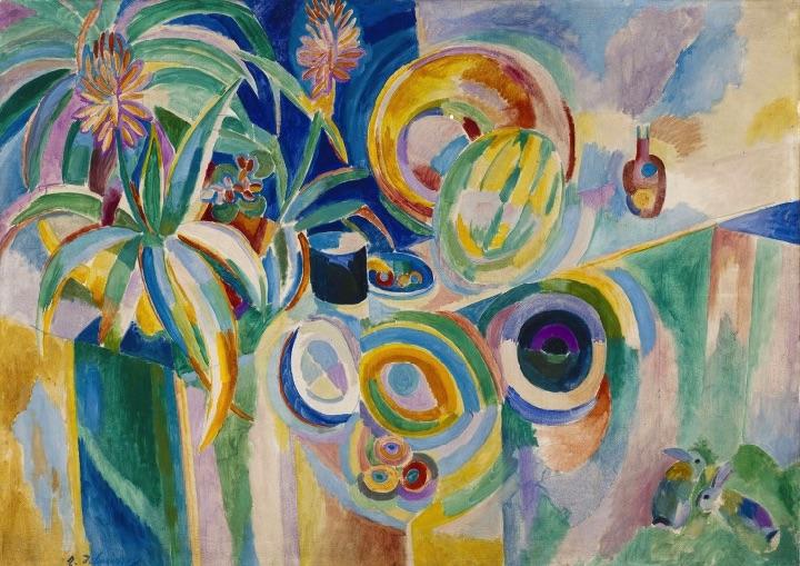 Nature Morte Portugaise or Symphonie Colorée - Robert Delaunay