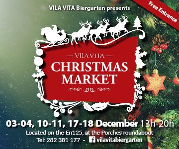 vila vita parc christmas market biergarten algarve,