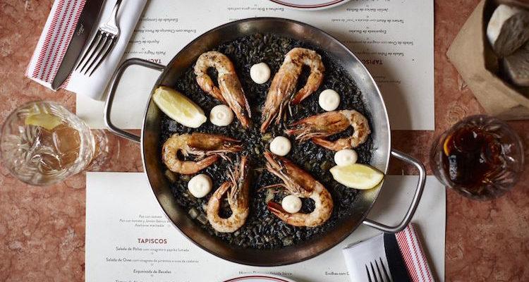 tapisco henrique sa pessoa lisbon lisboa squid ink paella