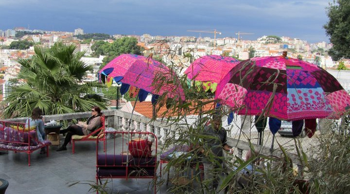 lost in a terrace of tranquility in the heart of lisbon portugal