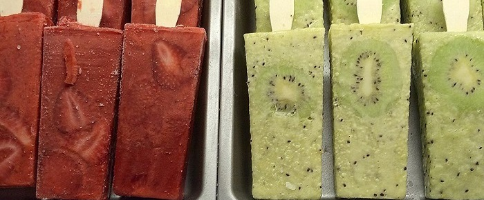 Paletaria Fresh Frozen Fruit Popsicles In Bairro Alto Portugal
